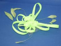 Neon Green Fascinator on Comb